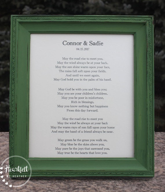 Irish Wedding Gifts Traditions: Traditional Irish Blessing Wedding Gift For Couple