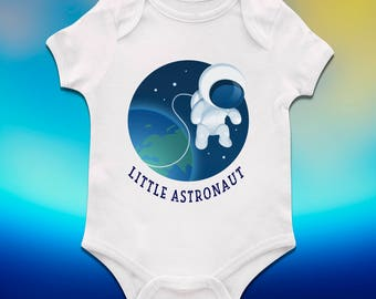 Little astronaut baby bodysuit, Astronaut baby shower, Baby shower present, Funny baby clothing, Nice baby clothes, Custom baby bodysuit
