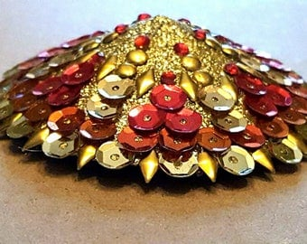 Red and Gold Sequined Pasties