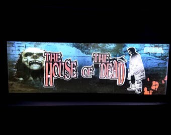 House of the Dead Arcade Style Marquee Light Box