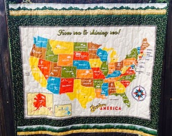 United State Map Usa Etsy - State map of usa