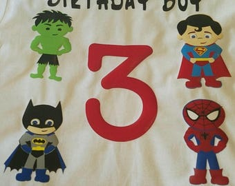 Superhero Birthday Tee