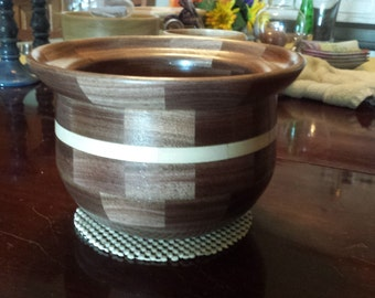 12 sided Segmented Wood Bowl with accent  (SDC122343)