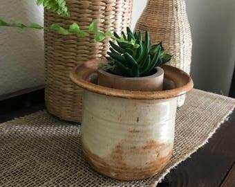Handmade Stoneware pottery planter
