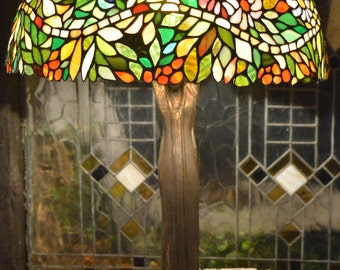 Stained Glass Tiffany Lamp Women, Decorative Lamp