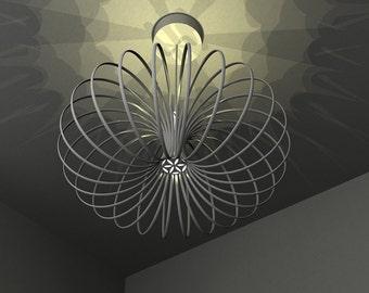 Torus pendant lamp / sacred geometry / flower of life / Retro space age