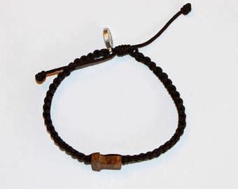 Tau Cross Olive Wood Bracelet