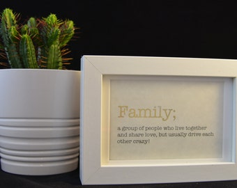 Urban Dictionary Wall Art Family Definition Funny Word
