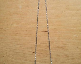 Stirling silver cross necklace