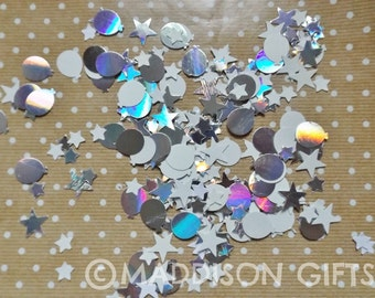 Stars & Balloons Card Embellishments Scrapbook Table Confetti Party Decorations Paper Craft Supplies