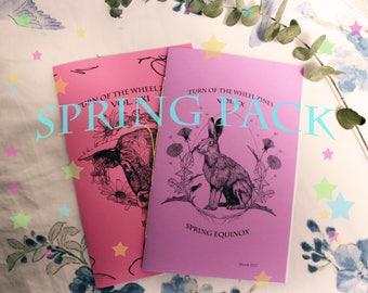 Turn of the Wheel Zines Spring Pack: Spring Equinox + Beltane Zines