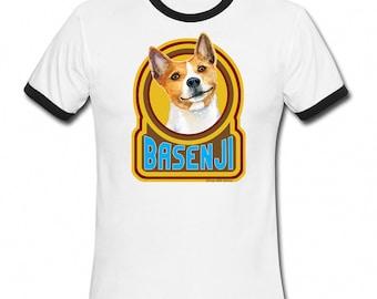 BASENJI Dog Retro Style