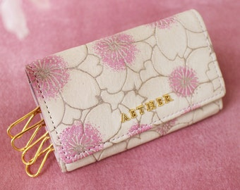Aether Cherry Blossom Leather Key Case