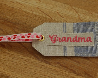 Grandma Fabric Gift Tag by The Linen Quarter