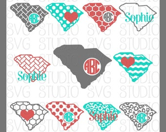 South Carolina Cut File, State Cut Files, SVG File, DXF File, PNG File, Cricut Cut File, Silhoutte Cut File