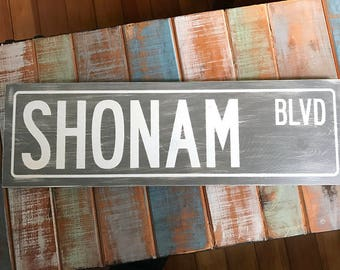Wood Signs, Custom Street Signs, Home Decor Wood Signs, Wood Sign Home Decor, Rustic Signs, Distressed Signs, 5.5 x 18