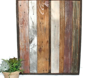 Rustic Wood Wall Art Reclaimed Large Multi Color Purple Contemporary Stripe Home Decor Wall Hanging