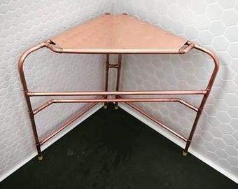 Copper corner table