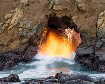 LIMITED EDITION - Golden Door - Pfeiffer Beach, Big Sur, California - Fine Art Print - Home Decor