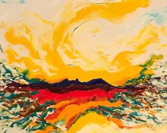 Love Fire - original oil painting by Farvardin Daliri 91 cm x 61 cm