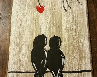 Lovebirds Wall Art
