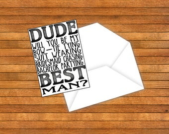 SET OF 4 Instant Download Will you be my Groomsman Best Man Cards Gifts From Groom Wedding Party Digital Bridesmaid Chasing Bachelor Party