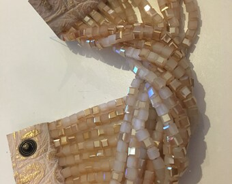 Cubic crystals bracelet
