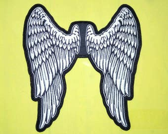 """Large wings angel patch 10"""" or 26 cm. Embroidery patch."""