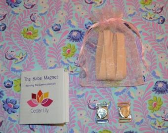 The Babe Magnet Nursing Bra Conversion Kit by Cedar Lily, Magnetic Nursing Bra Clasps, Nursing Bra Clips, Magnetic Bra Clasps