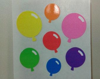 Sandylion Stickers Scrapbooking vintage colorful BALLOONS, Balloon  (1 mod)