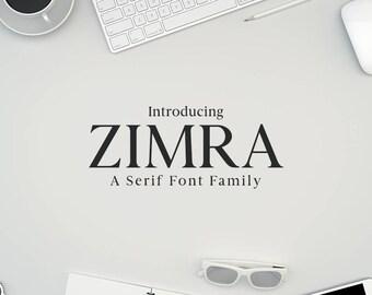 Zimra Serif Font Family