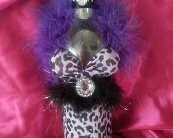Recycled wine bottle cheetah print fancy dress