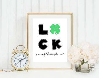 Luck of the Irish Printable