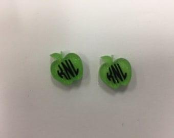 Apple Monogrammed Earrings