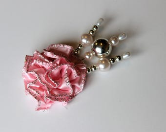 Pink and silver Decorative Stick Pin Sets For Scrapbooking, Mini Albums, & Card Making