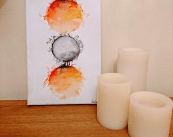 Handmade Abstract Circular Painting