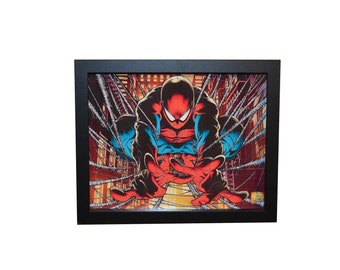 Spider-man Comic 3D 8x10 Shadow box