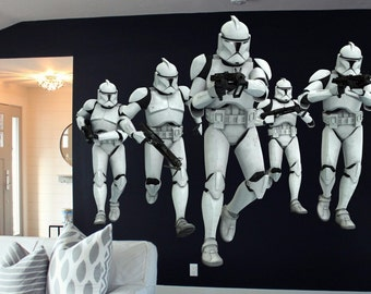 Stormtrooper Full Color Decal, Star Wars Full color sticker, wall art, cn 062