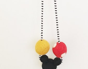 Mickey Mouse woolie necklace
