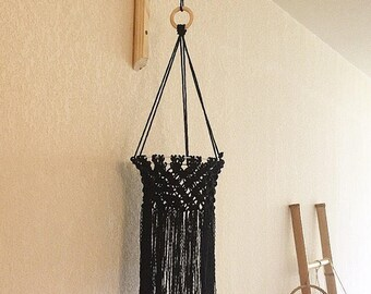Chunta - Macramé way black Lantern