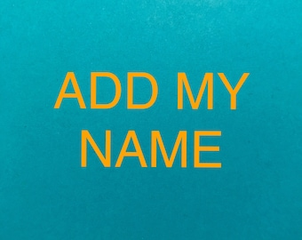 Customize by adding a name to any project