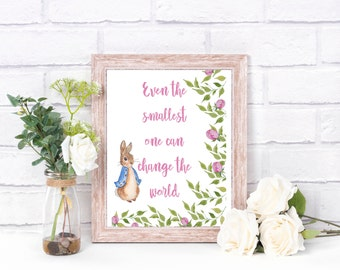 Peter Rabbit Print/ Peter Rabbit Gift/ Baby Shower Gift/ New Baby Gift/ First Birthday/ High Quality A4 Print/ Beatrix Potter Print/ Peter