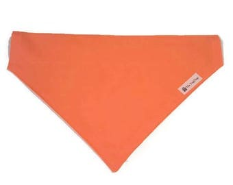 Dog and Puppy Bandana, Bandanna, Blaze Orange, Active Dog Wear, Highly Visible, Hunter Safety, Be Seen Walking, Hiking and Playing!