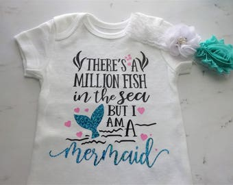There's a Million Fish in the Sea but I am a Mermaid- Bodysuit set