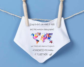 Baby bandana bib - random acts of kindness, dribble bib, feeding bib, drool bib, baby shower gift, birthday gift, baby boy, baby girl