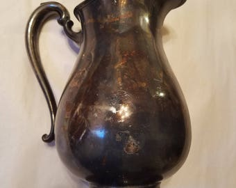 Camille International Silver Company Silver Plated Water Pitcher