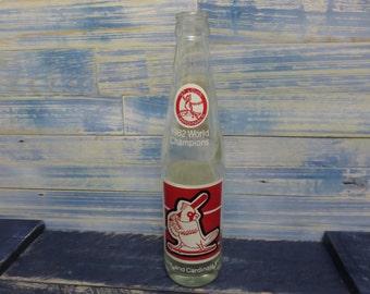 Vintage Coke Bottle St Louis Cardinals 1982 World Champions