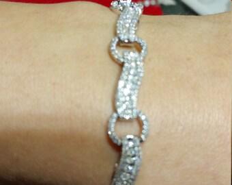 10k White Gold Genuine Diamond Tennis Bracelet