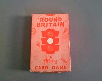 Vintage Round Britain Card Game. Pepys.