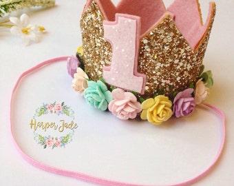 Birthday crown, gliter crown, princess crown, girls dress up, dress up accessories